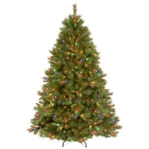 7-1/2 ft. Winchester Pine Hinged Artificial Christmas Tree with 500 Multicolor Lights