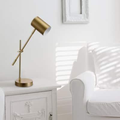 Pratt 20 in. Matte Brass Desk Lamp