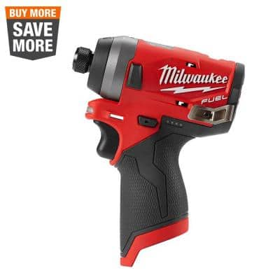 M12 FUEL 12-Volt Lithium-Ion Brushless Cordless 1/4 in. Hex Impact Driver (Tool-Only)