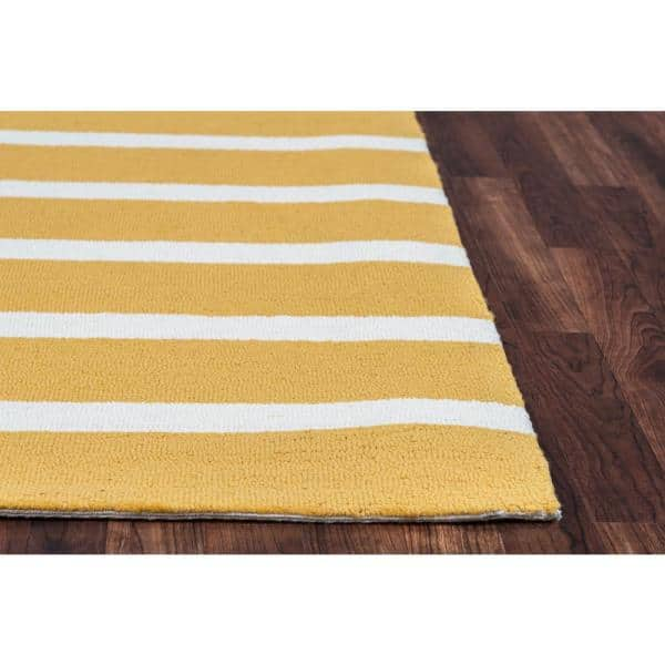 Rizzy Home Azzura Hill Yellow Striped 9 Ft X 12 Ft Indoor Outdoor Area Rug Azhah995100280912 The Home Depot