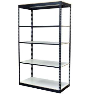 Gray 5-Tier Boltless Steel Garage Storage Shelving Unit (48 in. W x 96 in. H x 18 in. D)