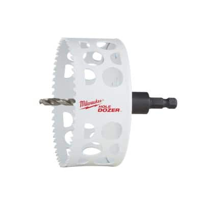 4-1/4 in. HOLE DOZER Bi-Metal Hole Saw with 3/8 in. Arbor and Pilot Bit