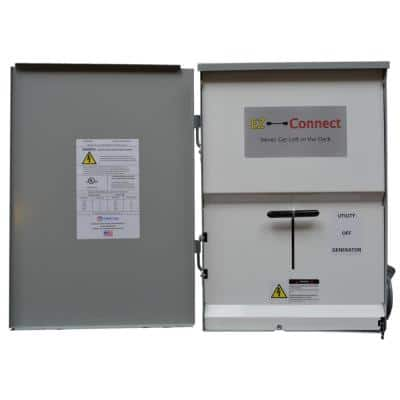 Manual Transfer Switch with 50 Amp Inlet for Generator Connection