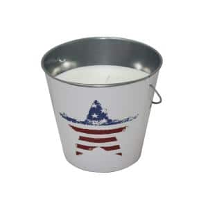 18 oz. Citronella Candle White Flag Bucket (3-Pack)