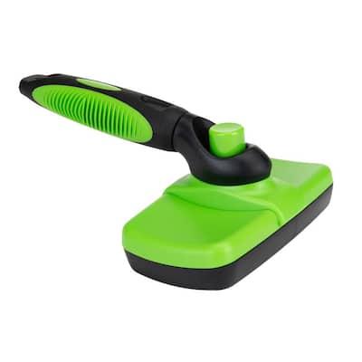Pet Grooming Brush in Green