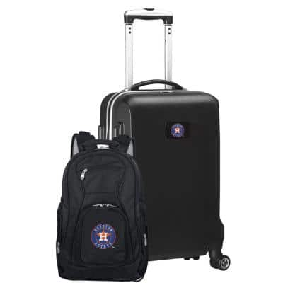Houston Astros Deluxe 2-Piece Backpack and Carry on Set