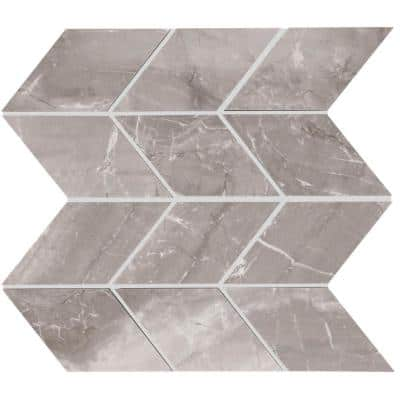 EpicClean Milton Fortune Polished 10 in. x 12 in. Color Body Chevron Mosaic Tile (0.75 sq. ft./Each)