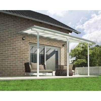 Feria 10 ft. x 14 ft. White Patio Cover Awning