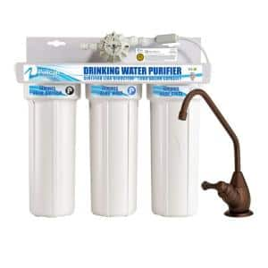 Drinking Water Purifier Dispenser Filtration System with Oil Rubbed Bronze Faucet