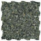Pebblini Olive 12 in. x 12 in. Pebble Stone Mosaic Tile (10.63 sq. ft. / Case)