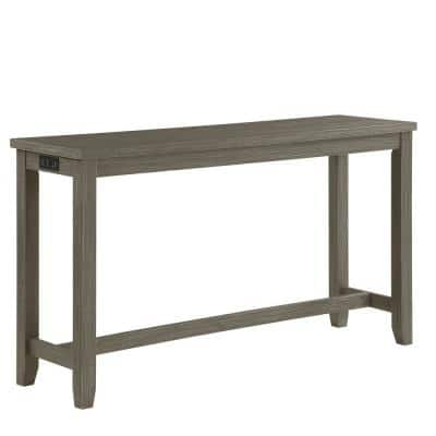 Rockland Wire-Brushed Gray Counter Height Table