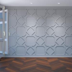 3/8'' x 39-7/8'' x 23-3/8'' Lockhart Decorative Fretwork Wall Panels in Architectural Grade PVC
