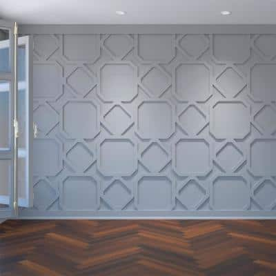 3/8 in. x 39-7/8 in. x 23-3/8 in. Lockhart Decorative Fretwork Wall Panels in Architectural Grade PVC