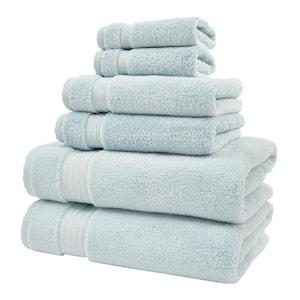 Egyptian Cotton 6-Piece Towel Set in Raindrop