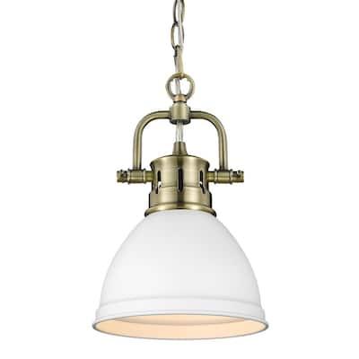 Duncan AB 1-Light Aged Brass Mini Pendant