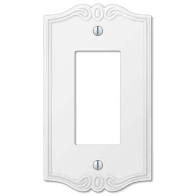 Charleston 1 Gang Rocker Composite Wall Plate - White