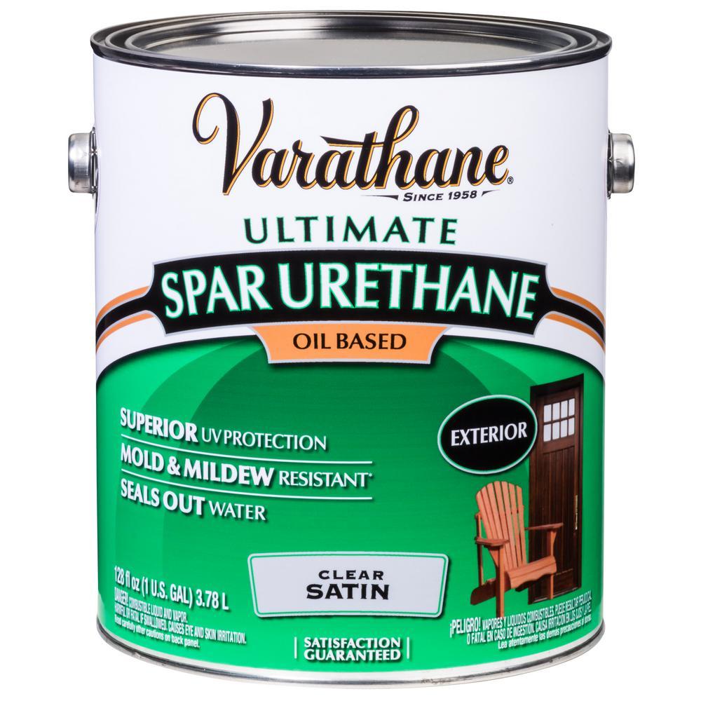 1 gal. Clear Satin 350 VOC Oil-Based Exterior Spar Urethane (2-Pack)