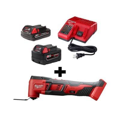 M18 18-Volt Lithium-Ion Cordless Oscillating Multi-Tool with (1) 5.0 Ah, (1) 2.0 Ah Battery and Charger