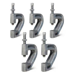 Purlin Beam Clamp for 3/8 in. Threaded Rod in Electro Galvanized Iron (5-Pack)
