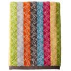 Ribbons Multicolored Striped Cotton Fingertip Towel (Set of 2)