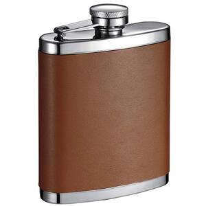 Robert Brown Leather Liquor Flask