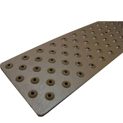 3.75 in. x 30 in. Non-Slip Aluminum Tread, Brown