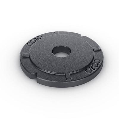 2 in. Black Galvanized Steel Heavy Duty Washer (4-Pack)