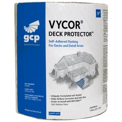 Vycor Deck Protector 9 in. x 75 ft. Roll Fully-Adhered Joist Tape (56 sq. ft.)