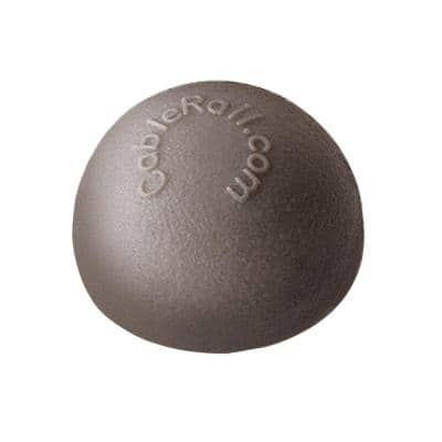 7/16 in. Plastic Gray Dome End Cap for Cable Railing System (10-Pack)