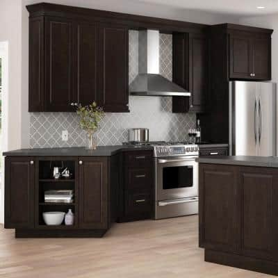 Dark Brown Kitchen Cabinets The Home Depot