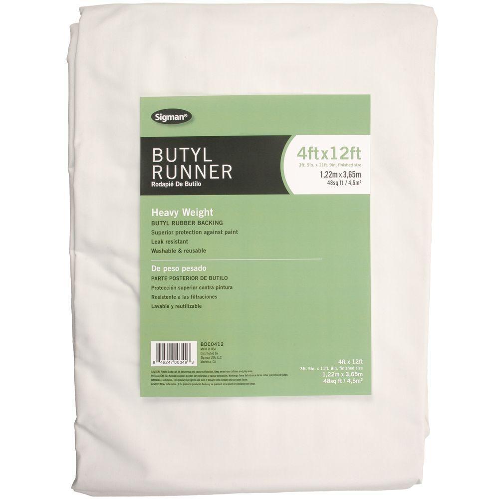 4 ft. x 12 ft. Butyl Drop Cloth Runner