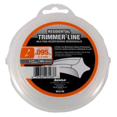 Residential 40 ft. 0.095 in. Universal 4 Point Star Trimmer Line