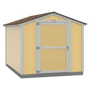 Installed The Tahoe Series Standard Ranch 8 ft. x 12 ft. x 7 ft. 10 in. Painted Wood Storage Building Shed