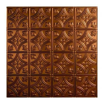Traditional #1 2 ft. x 2 ft. Oil Rubbed Bronze Lay-In Vinyl Ceiling Tile ( 20 sq.ft. )