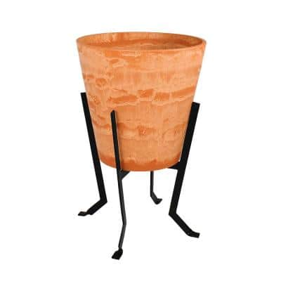Achla Designs 25 25 In Tall Terra Cotta Large Indoor Outdoor Denise Stone Planter Iii Fb 60 S The Home Depot