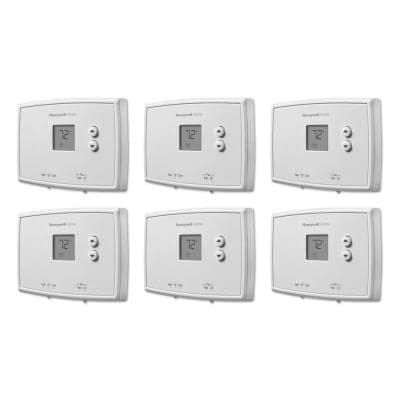 Horizontal Non-Programmable Thermostat (6-Pack)