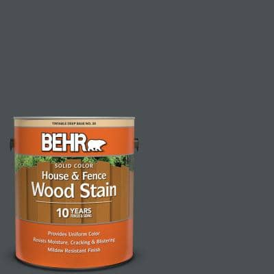 1 gal. #PPU18-1 Cracked Pepper Solid Color House and Fence Exterior Wood Stain