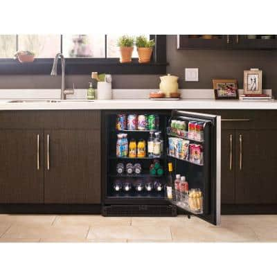 5.1 cu. ft. Undercounter Refrigerator with Towel Bar Handle in Fingerprint Resistant Stainless Steel