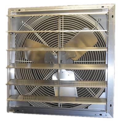 30 in. 5895 CFM Shutter Exhaust Fan Wall Mounted