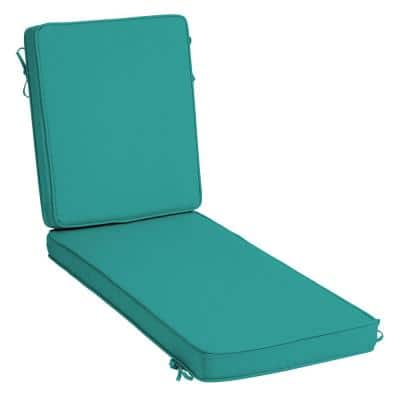 ProFoam 21 in. x 26 in. Surf Acrylic Outdoor Chaise Lounge Cushion