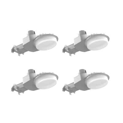 450-Watt Equivalent Integrated LED Gray Dusk to Dawn Outdoor Area Light with 7000 Lumen Security Lighting (4-pack)