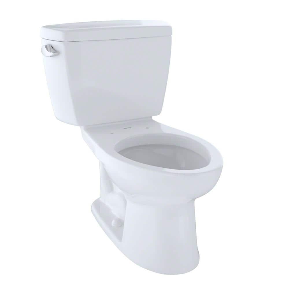 Toto Drake Ada Compliant 2 Piece 1 6 Gpf Single Flush Elongated Toilet In Cotton White Cst744sl 01 The Home Depot