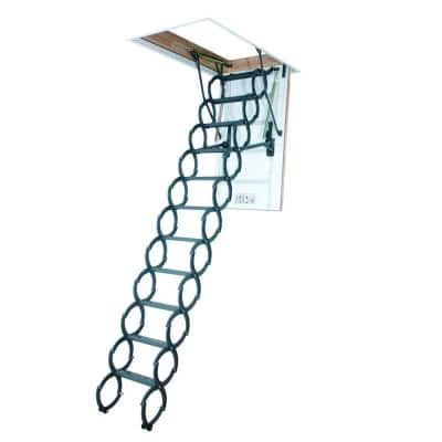 LST 9 ft. 2 in., 22.5 in. x 47 in. Insulated Steel Scissor Attic Ladder with 350 lb. Load Capacity Not Rated