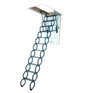 LST 9 ft. 2 in., 25 in. x 54 in. Insulated Steel Scissor Attic Ladder with 350 lb. Load Capacity Not Rated