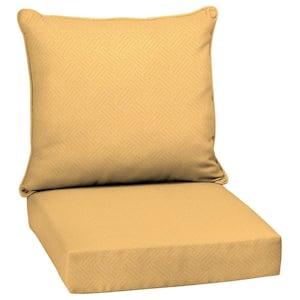 24 x 24 Shirt Texture 2-Piece Deep Seating Outdoor Lounge Chair Cushion