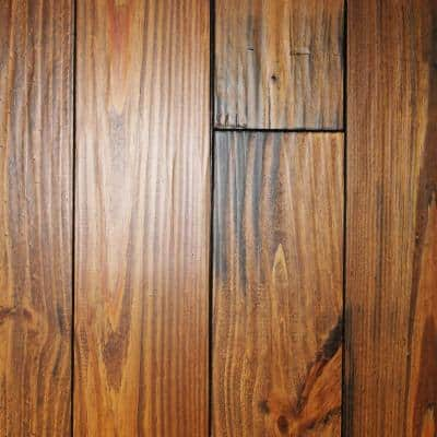 Hand Scraped Roasted Pine 3/4 in. Thick x 5-1/8 in. Wide x Random Length Solid Hardwood Flooring (23.3 sq. ft. / case)