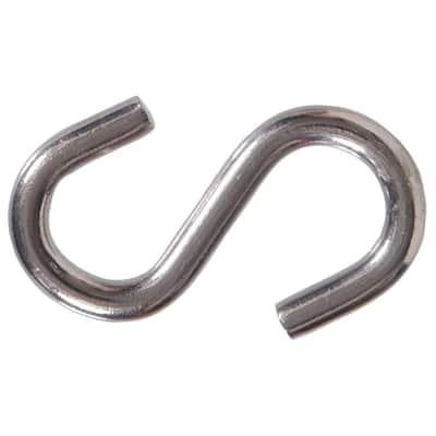 0.250 in. x 2 in. Stainless-Steel S-Hook (10-Pack)