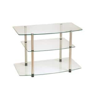 Classic 31.5 in. Glass TV Stand 32 in. with Cable Management