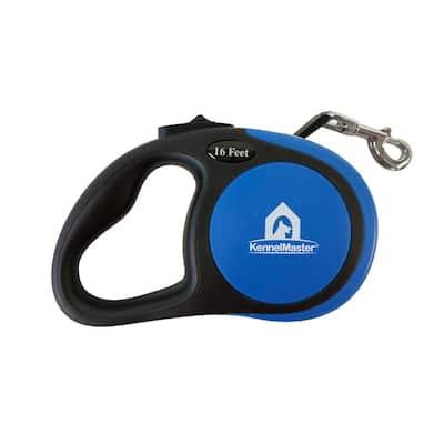 Medium 16 ft. Blue Retractable Dog Leash