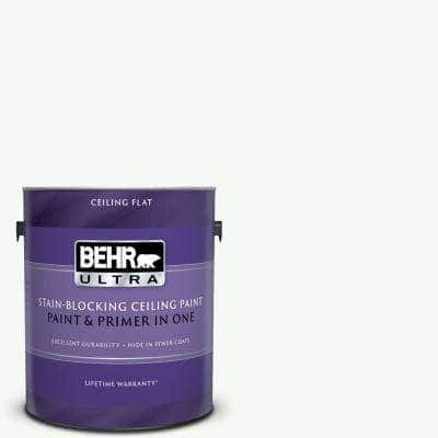 1 gal. #PPU18-6 Ultra Pure White Ceiling Flat Interior Paint and Primer in One